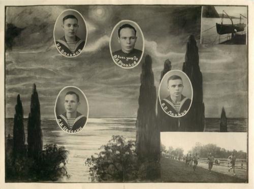 Фотография выпускников морского училища (Россия)