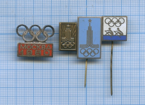 Набор значков «Олимпийские игры - Москва-1980» (СССР)