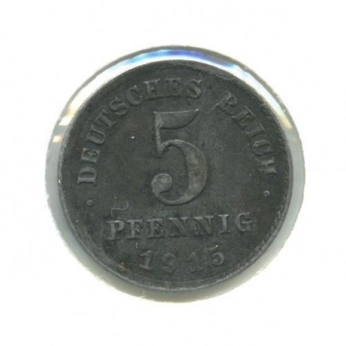 5 пфеннигов (вхолдере) 1915 года А (Германия)