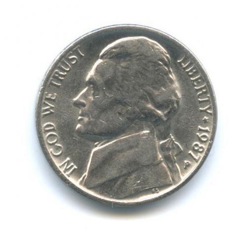 5 центов 1987 года P (США)