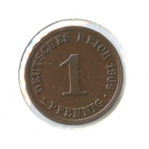1 пфенниг (вхолдере) 1909 года A (Германия)