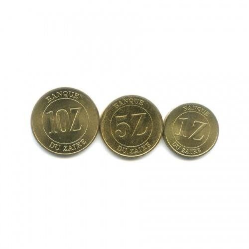Набор монет - Республика Заир 1987, 1988