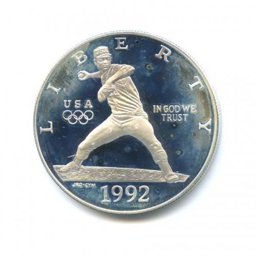 1 доллар - Олимпийские Игры 1992 - Бейсбол 1992 года S (США)