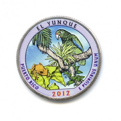 25 центов (квотер) — Национальный лес Эль-Юнке, вцвете 2012 года P (США)