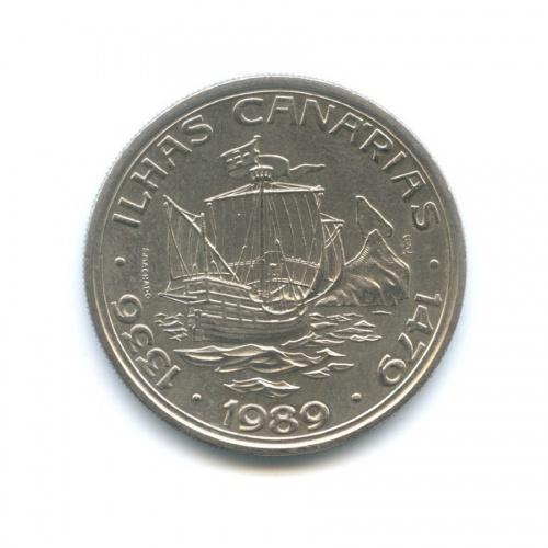 100 эскудо — Золотой век открытий - Открытие Канарских островов 1989 года (Португалия)
