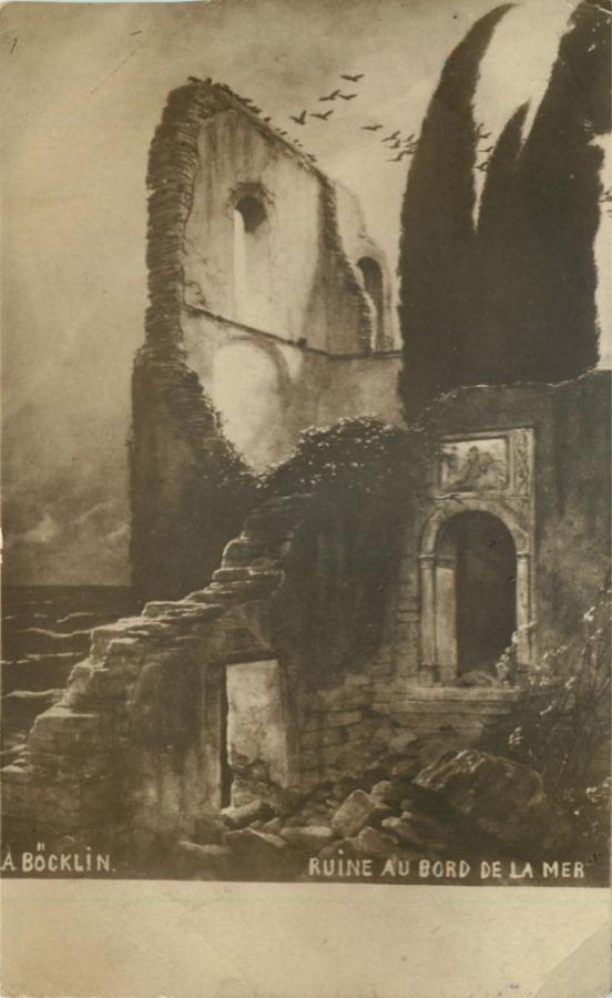 Почтовая карточка «Ruine aubord delamer» (Франция)