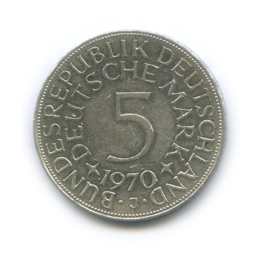 5 марок 1970 года J (Германия)