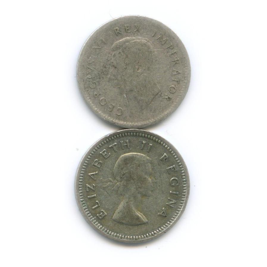 Набор монет 3 пенса 1940, 1958 (ЮАР)