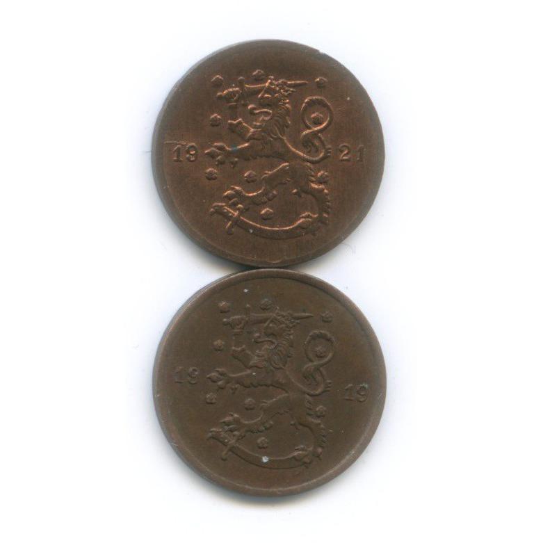 Набор монет 1 пенни 1919, 1921 (Финляндия)