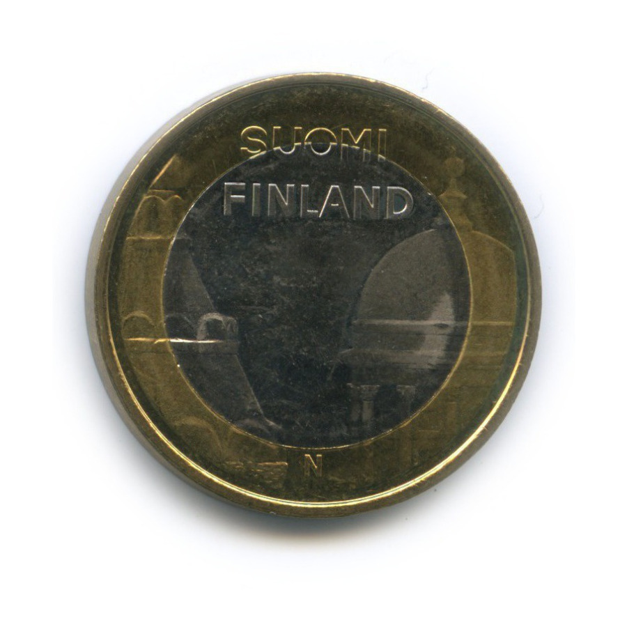 5 евро — Исторические регионы Финляндии. Строения - Уусимаа 2012 года (Финляндия)