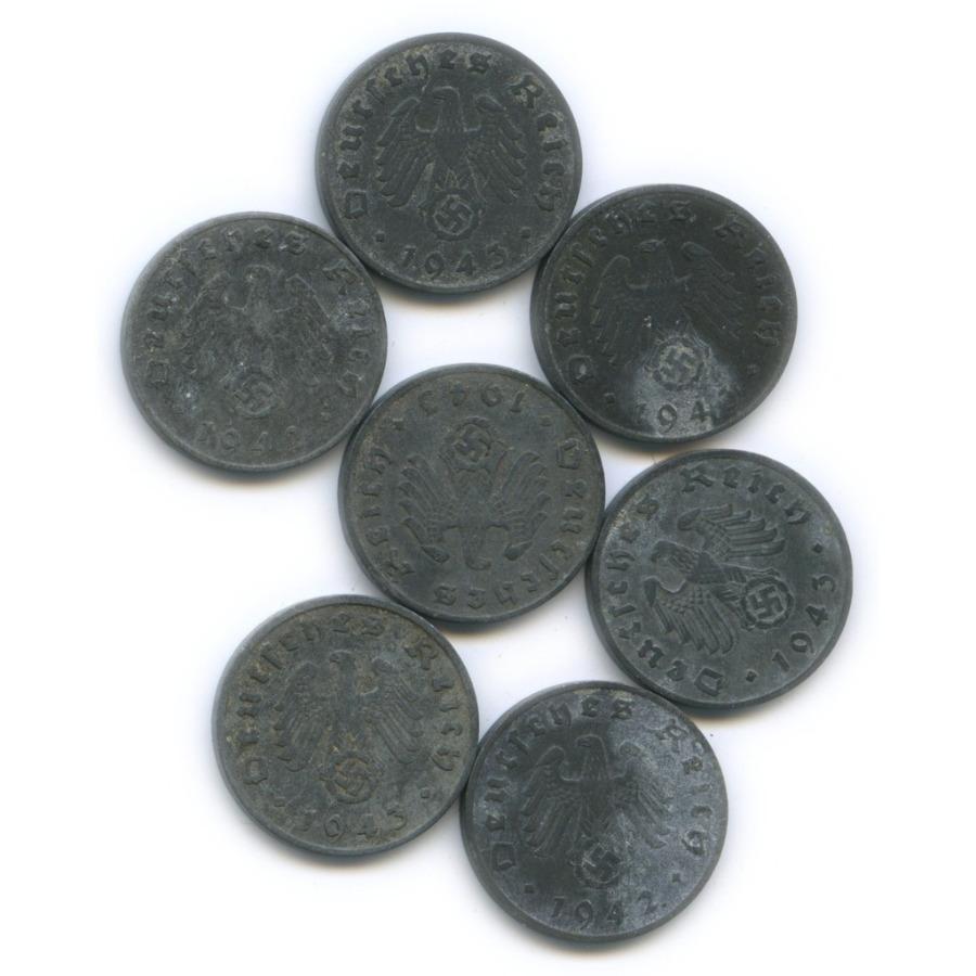 Набор монет 1 рейхспфенниг 1942, 1943 (Германия (Третий рейх))