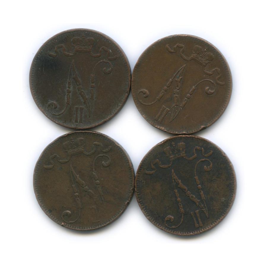 Набор монет 5 пенни (Российская Империя)