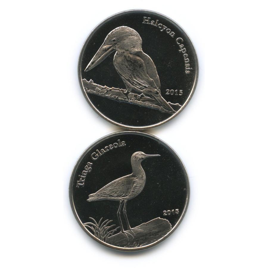 Набор монет 1 фунт - Птицы, Шетландские острова 2015 года