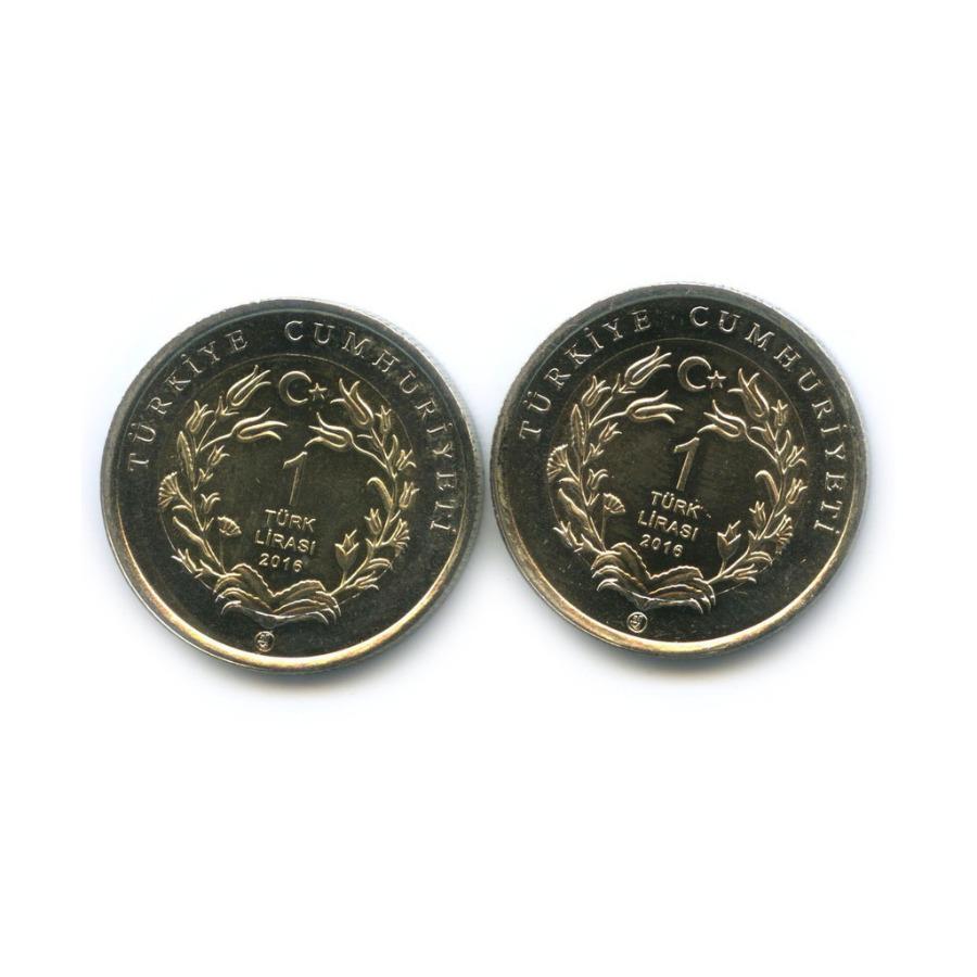 Набор монет 1 лира - Фауна Турции 2016 года (Турция)