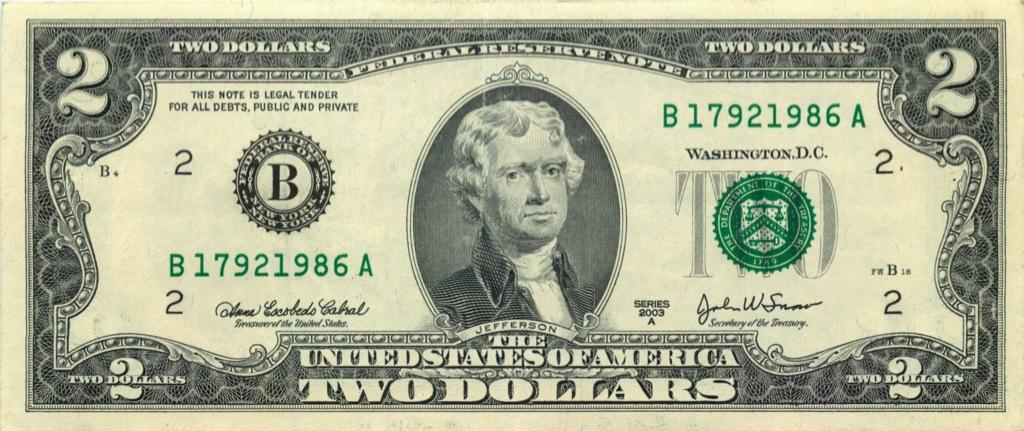 2 доллара 2003 года А (США)