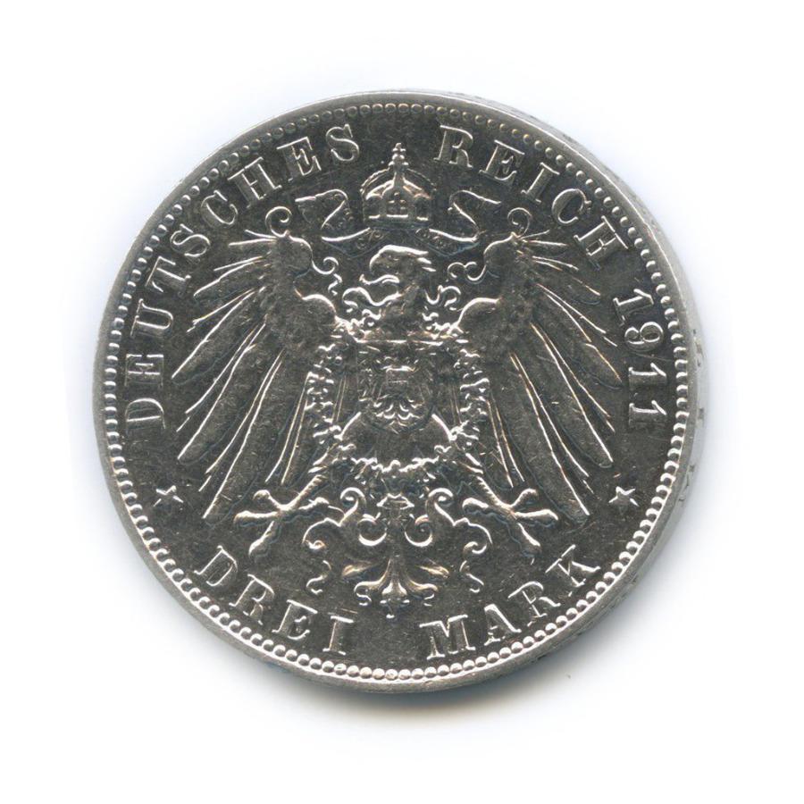 3 марки - Фридрих Август I, Саксония 1911 года Е (Германия)