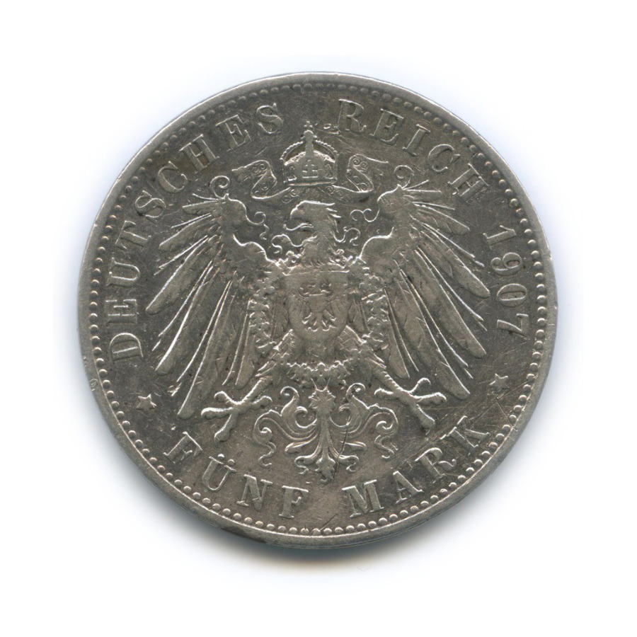 5 марок - Отто I, Бавария 1907 года D (Германия)