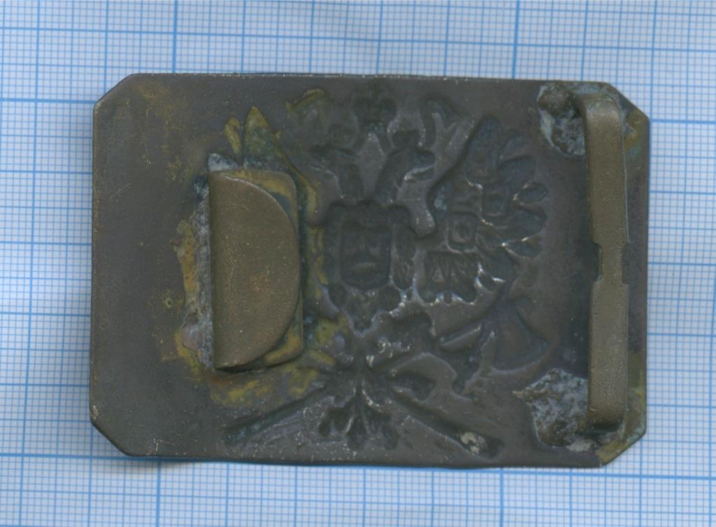 Пряжка инженера-сапера (мельхиор) (Российская Империя)