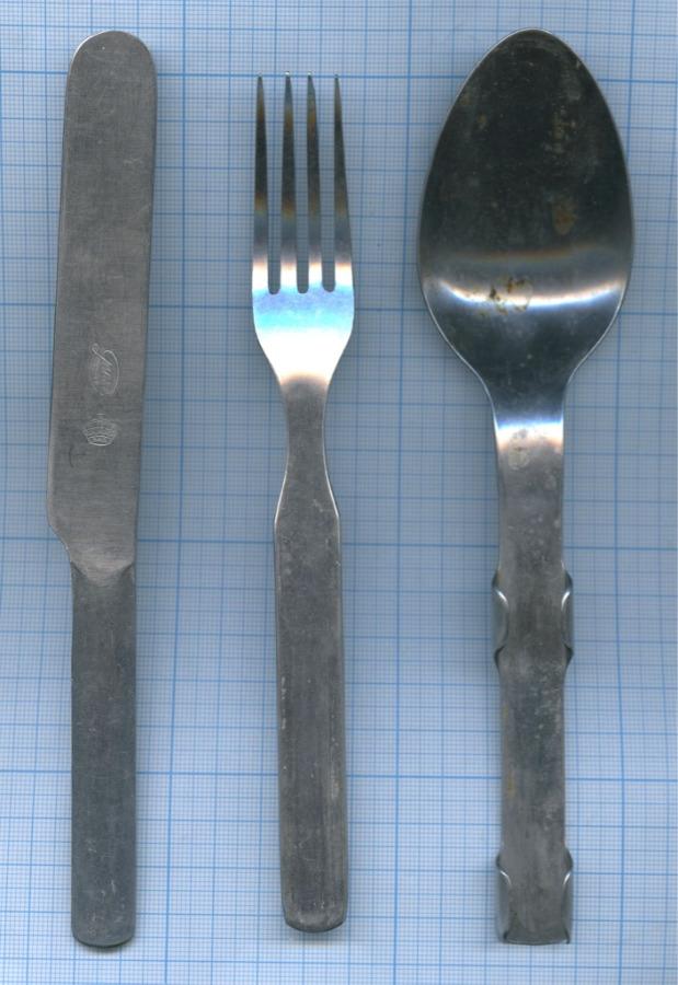 Набор походный: ложка, вилка, нож (клейма) (Швеция)