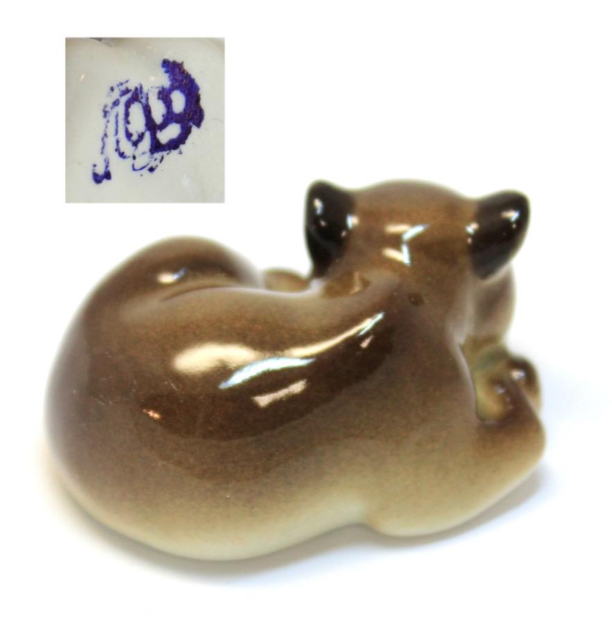 Фигурка ЛФЗ «Мишка бурый» (длина 5,5 см) (Россия)