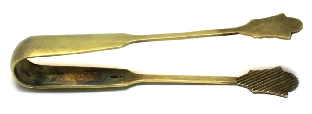 Щипцы для сахара (серебро 875 пробы, 11,5 см, вес - 28,2 г) (СССР)