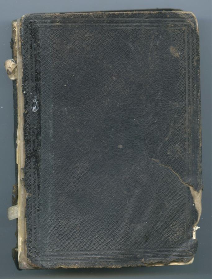 Книга «Новый завет», Лондон (624 стр., обложка оторвана) 1869 года (Великобритания)