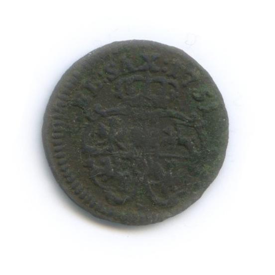 1 солид - Август III Толстый, Речь Посполитая 1751 года