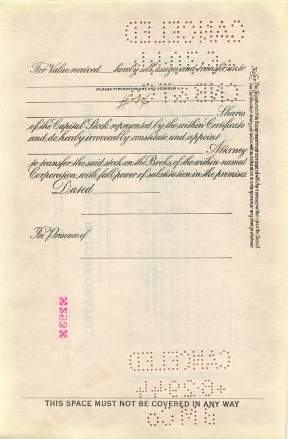 253 акций («Bond Stores, Incorporated») 1937 года (США)