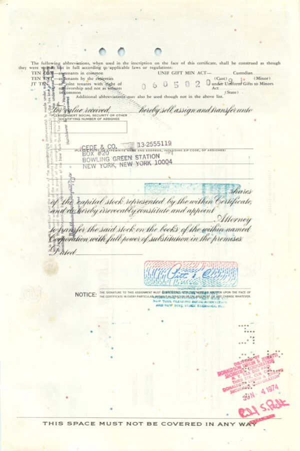100 акций «Seatrain Lines, Inc» 1971 года (США)
