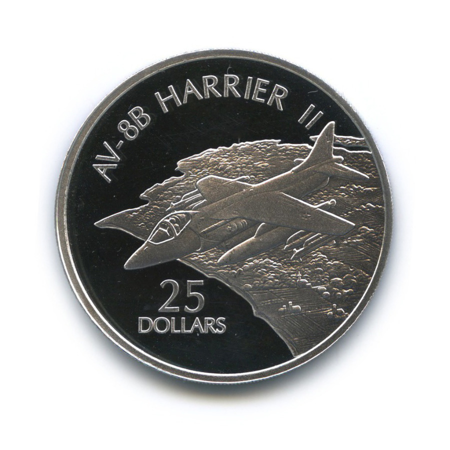 25 долларов - Истребитель-бомбардировщик «Harrier II», Соломоновы острова 2003 года