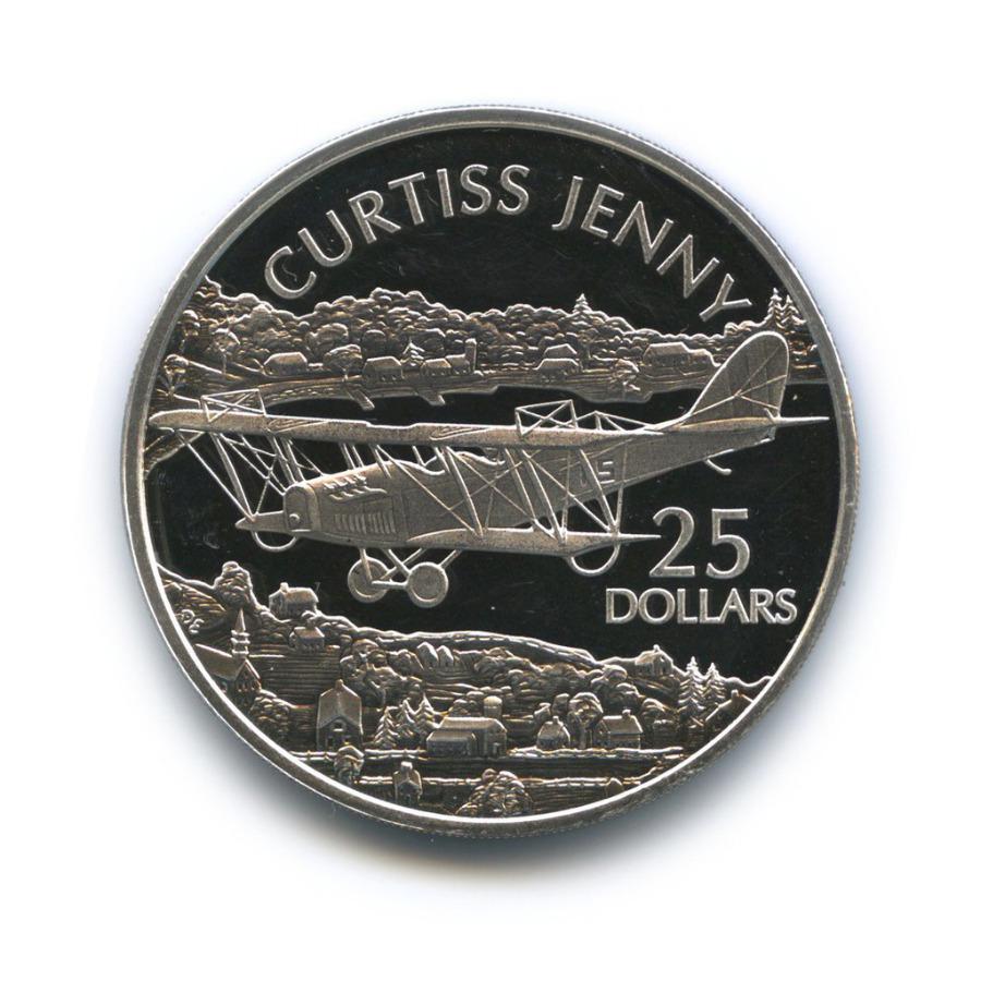 25 долларов - Учебно-тренировочный биплан «Curtis Jenny», Соломоновы острова 2003 года