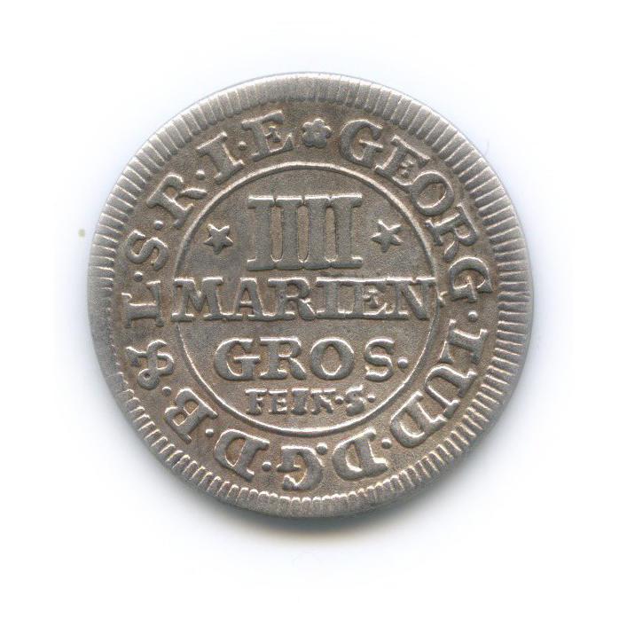 4 мариенгрошена, Герцогство Брауншвейг-Люнебург-Каленберг 1700 года (Германия)