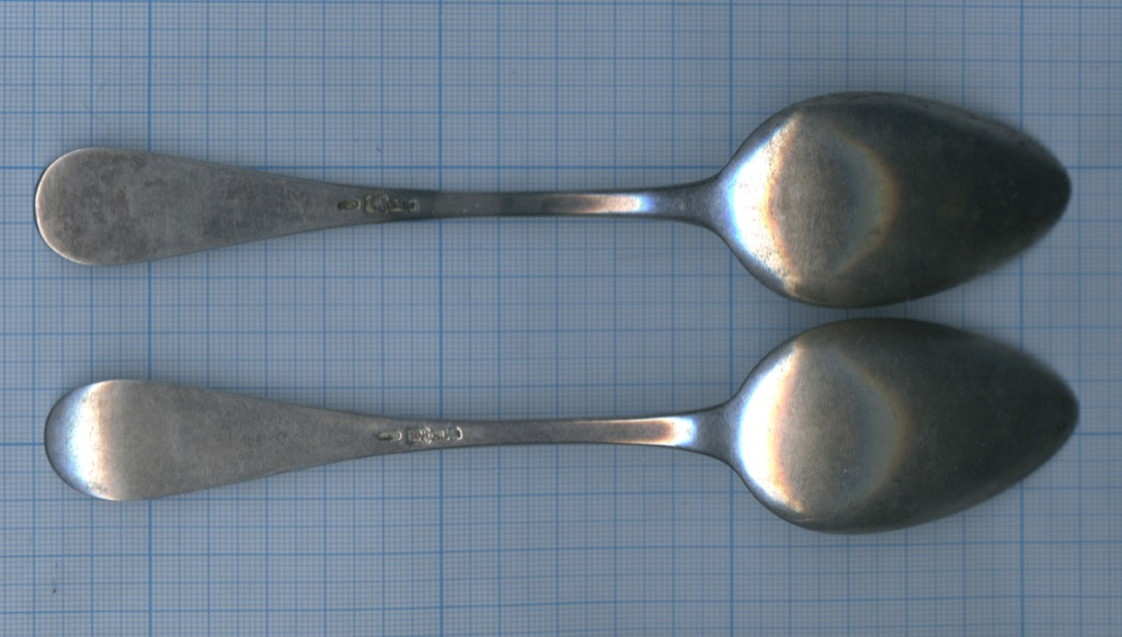Набор ложек (84 проба серебра, клеймо мастера, вес - 109 г) 1869 года (Российская Империя)