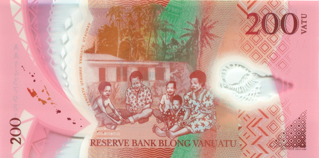 200 вату (Вануату), пластик