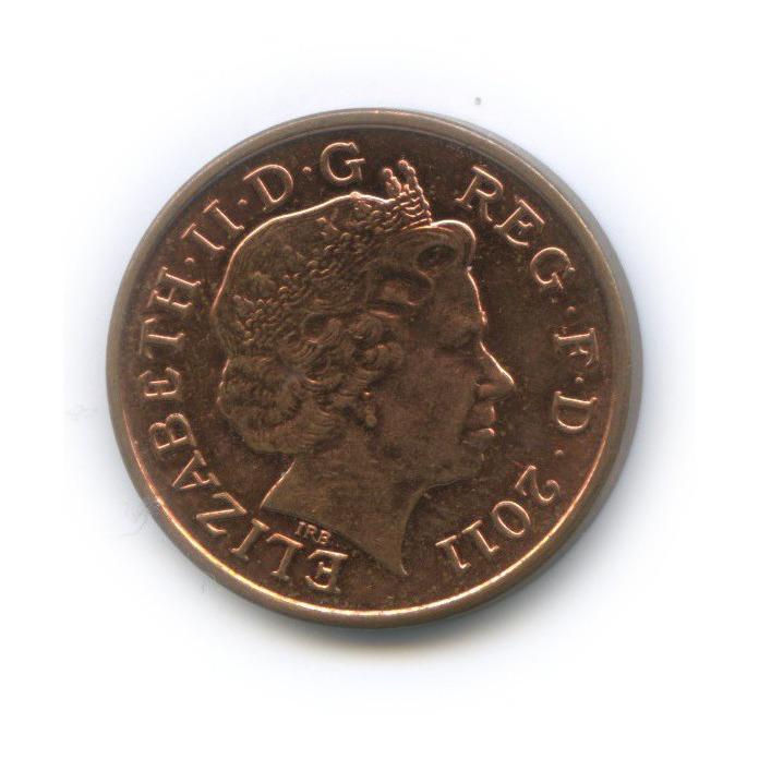 1 пенни - Фрагмент герба британской королевской семьи 2011 года (Великобритания)