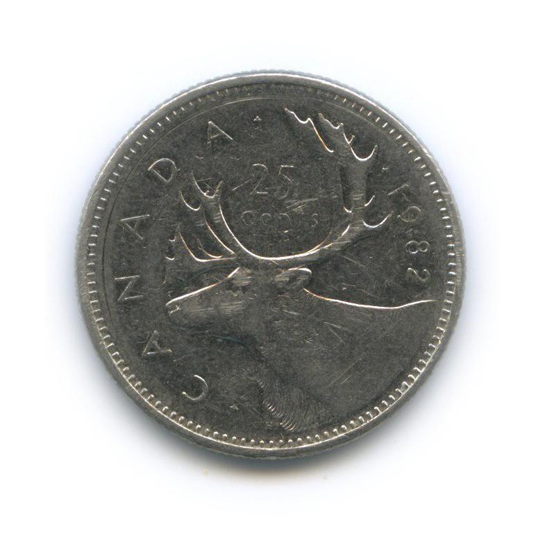 25 центов (квотер) 1982 года (Канада)
