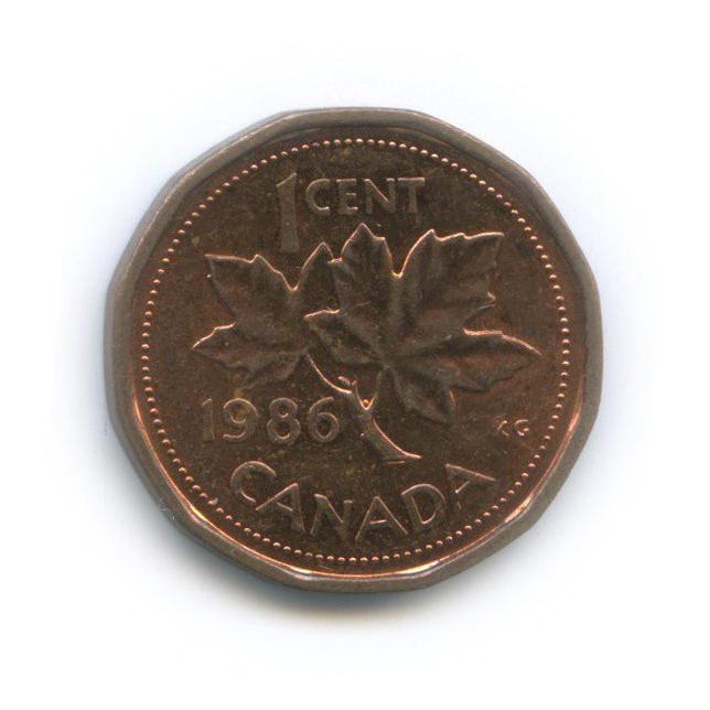 1 цент 1986 года (Канада)