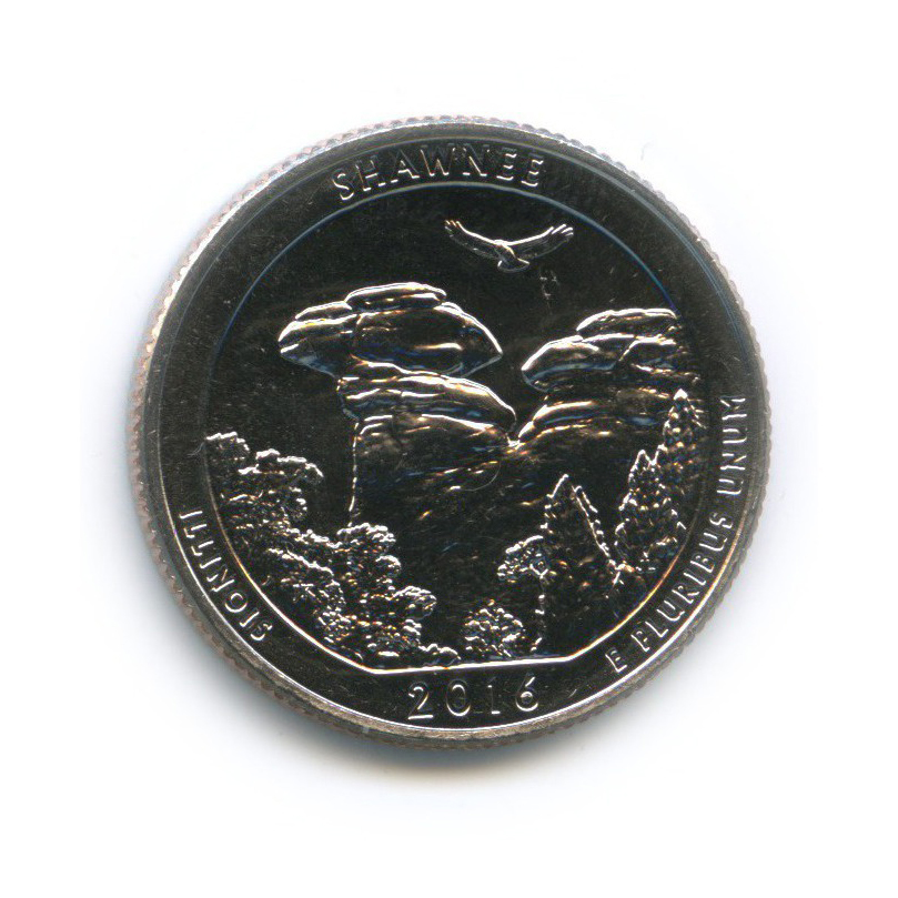 25 центов (квотер) - Национальный парк Шони 2016 года D (США)