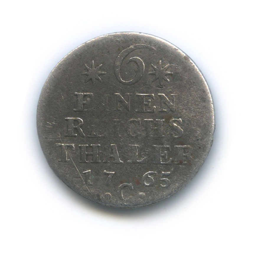 1/6 талера - Фридрих II (Пруссия) 1765 года