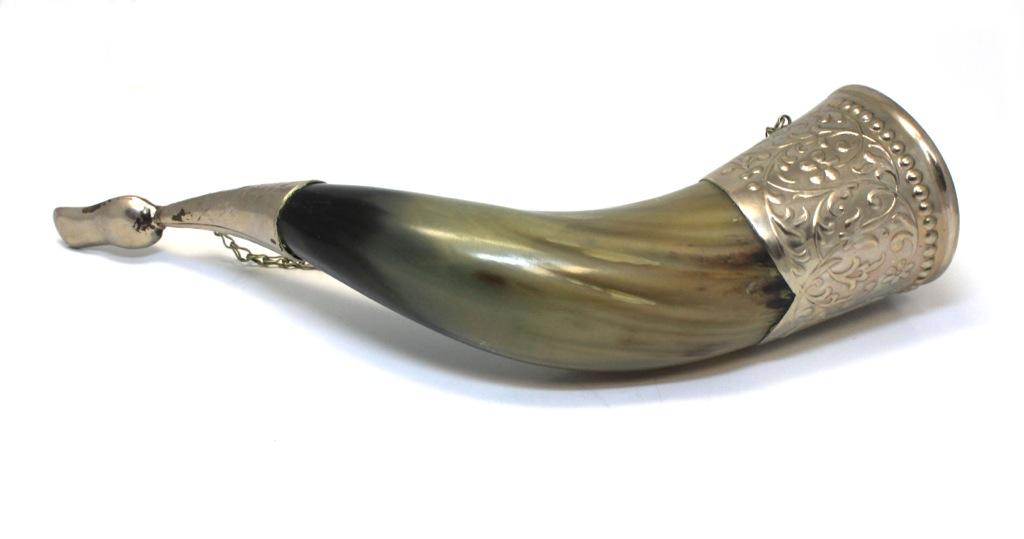 Рог натуральный (сценником, 26 см) (СССР)