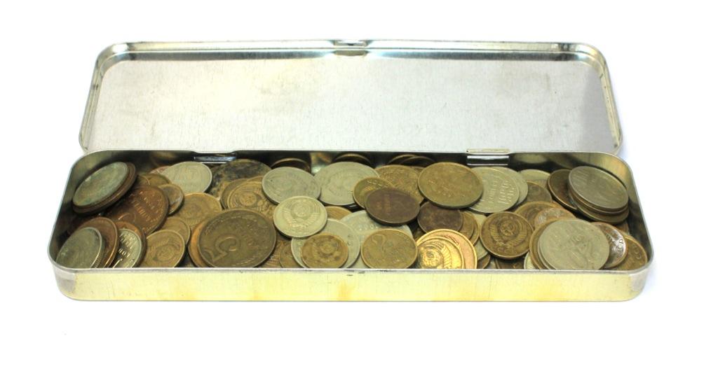 Набор монет СССР (200 шт., вдетском пенале) (СССР)