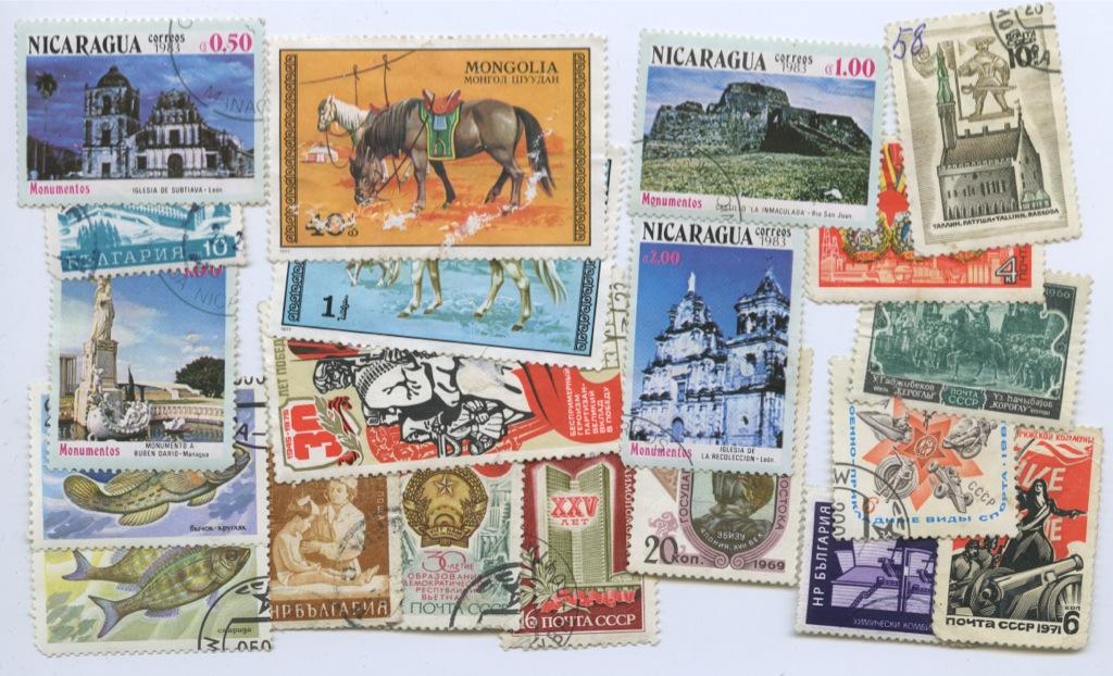 Набор почтовых марок (разные старны), 20 шт.