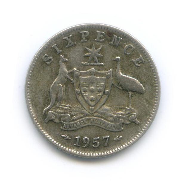 6 пенсов 1957 года (Австралия)