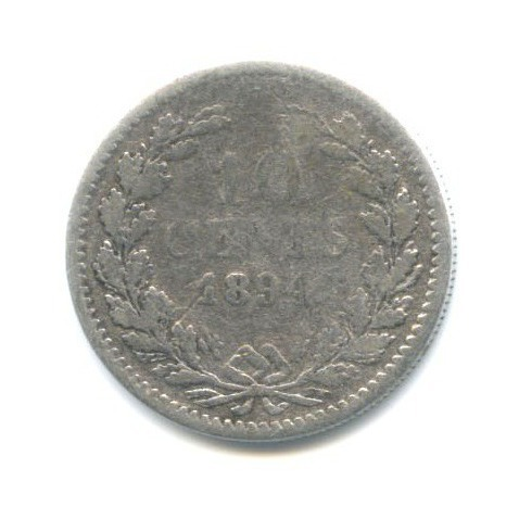 10 центов 1894 года (Нидерланды)