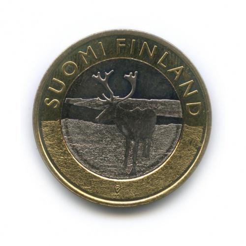 5 евро - Животные провинций - Лапландия 2015 года (Финляндия)