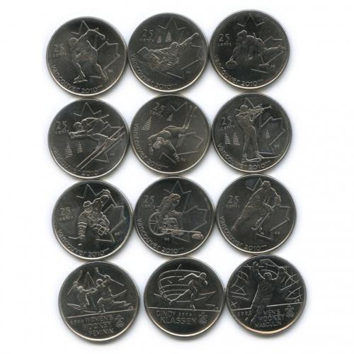 Набор монет 25 центов (квотер) - Олимпийские игры 2007-2009 (Канада)
