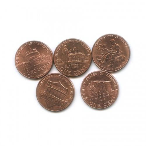 Набор юбилейных монет 1 цент 2009-2010 (США)