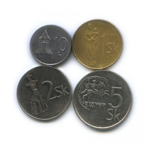 Набор монет 1993, 2002 (Словакия)