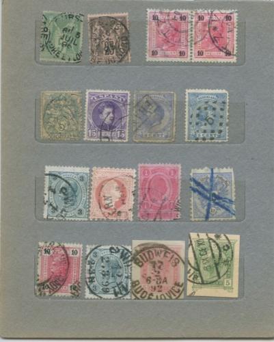 Набор почтовых марок (разные страны), до 1917 г.