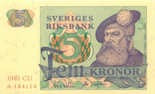 5 крон 1981 года (Швеция)